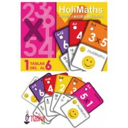 Tablas del 1 al 6 Multiplicación.