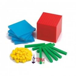 BASE 10 PLASTICA COLORES 121 PIEZAS