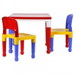 Mesa Lego + 2 sillas.