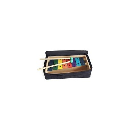 Metalofono Diatónico 8 Notas de Colores con Funda