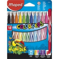 Marcadores Maped Jungle 12 colores.